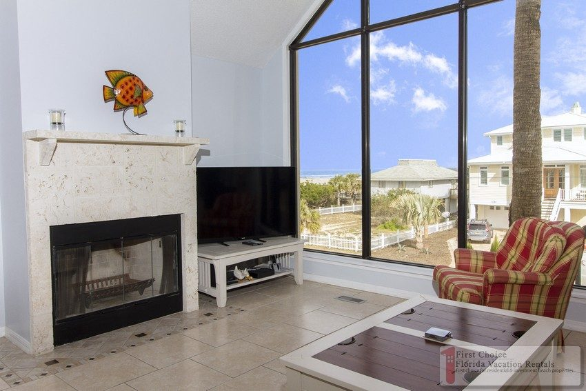 Atlantic Bliss Living Room with Fireplace and View