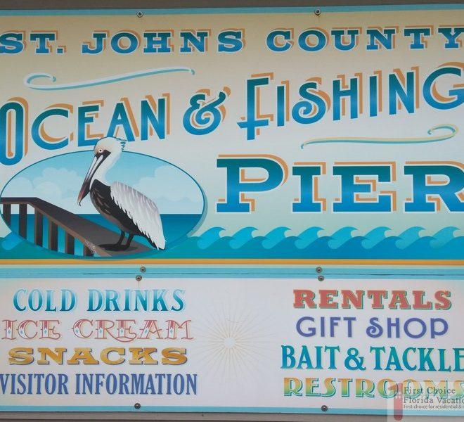 St Augustine Beach Pier Fishing Pier Sign