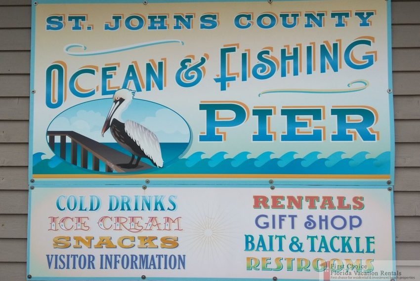 St Augustine Beach Pier Fishing Pier Sign