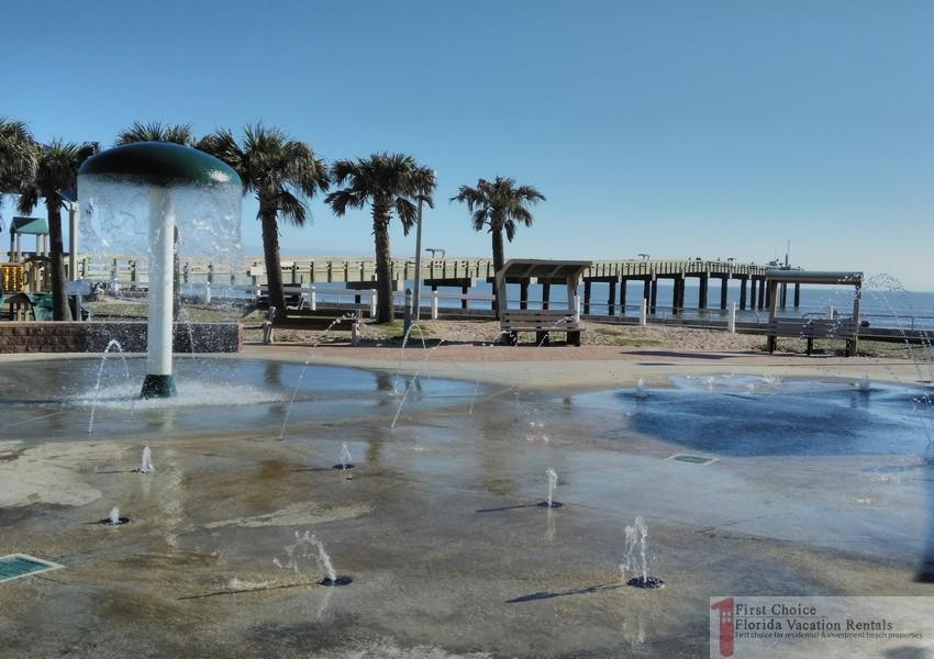 St Augustine Beach Pier Splash Pad
