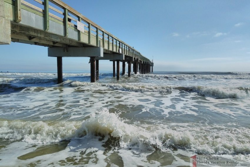 St Augustine Beach Pier Under South Side