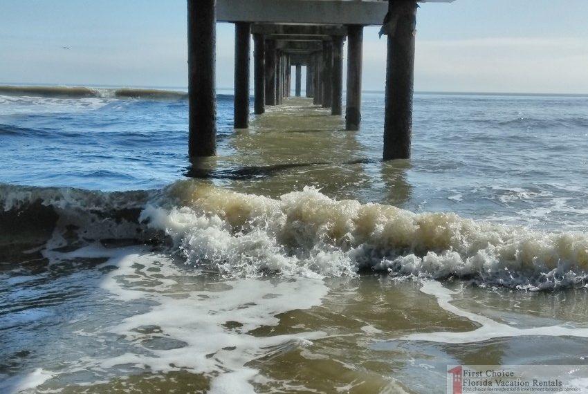 St Augustine Beach Pier Underneath
