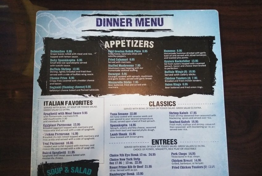 Zaharias St. Augustine Appetizers and Classics