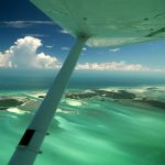 the Florida Keys, aerial view from an airplane