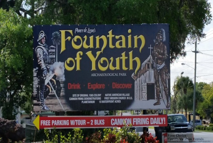 Fountain of Youth Park Billboard