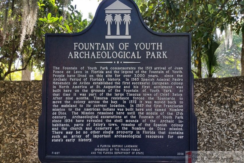 Fountain of Youth Park Historical Marker