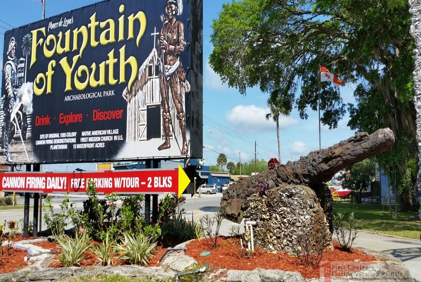 Fountain of Youth Park Sign and Cannon