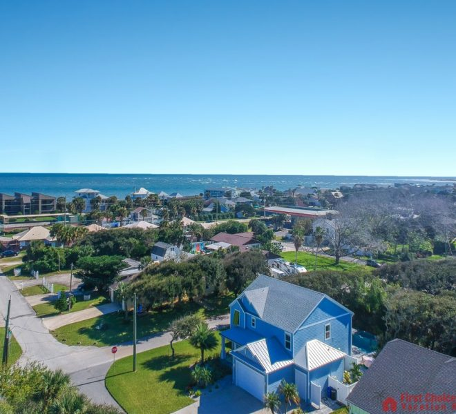 Seaside Retreat Aerial Home View